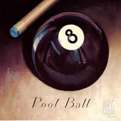 Behind the 8 Ball Print by Marco Fabiano Pool Table Room, Pub Interior, Pool Games, Pin Up, Framed Artwork, Framed Wall, Game Room, Art Prints, Basement Decorating