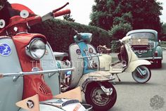 Teme valley, pre 66 scooter rally by The Scootographer, via Behance