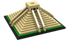 ruimrbranco modeled the Kukulkan Pyramid, located in Mexico. While the build is relatively simple, it is great homage to the real Mayan pyramid. To see ot