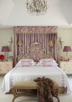 Regal purple palette in this masterful master bedroom by Andrew Racquet.