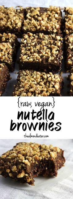 Vegan Nutella Brownies   Brownies with a secret ingredient that taste like…