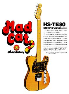 1973 H.S. Anderson (Morris) ad MADCAT TE80 Basically same design as the Hohner Prinz..also designed by H.S. Anderson.