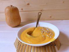 Crema de calabaza, coliflor y zanahoria