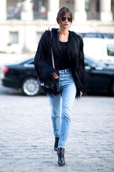 Get Alessandra Ambrosio's Shaggy Coat Look | Le Fashion | Bloglovin'