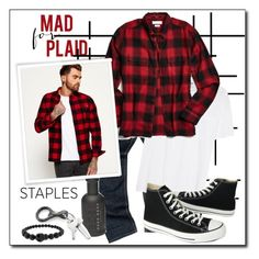"""""""Mad about Plaid..#menswear #pant #shirt #shoe #staples #polyvore"""" by fashionlibra84 ❤ liked on Polyvore featuring Valentino, Urban Outfitters, Superdry, BOSS Hugo Boss, Converse, Alexander McQueen, men's fashion and menswear"""