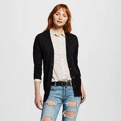 Women's Long Sleeves Boyfriend Cardigan - Mossimo Supply Co.™ (Juniors')