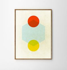 Mid century art living room art abstract geometric art Scandinavian print Minimalist kitchen Wall decor Midcentury Modern Abstract art