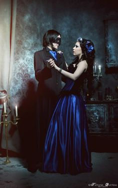 Corporate #Goth and Neo-Victorian Goth girl couple