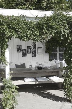 Backyard Pergola Lighting - Pergola Garten Ideen - Corner Pergola With Bench - Pergola Kits Home Depot - - Outdoor Areas, Outdoor Rooms, Outdoor Living, Outdoor Decor, Outdoor Lounge, Outdoor Seating, Outdoor Couch, Garden Seating, Outdoor Life