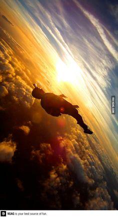 skydiving..