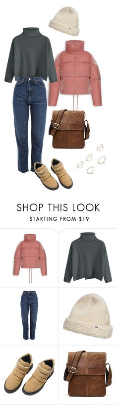 """""""Cozy Tuesday"""" by olga-litvin ❤ liked on Polyvore featuring Moncler, Topshop, Wood Wood and MANGO"""