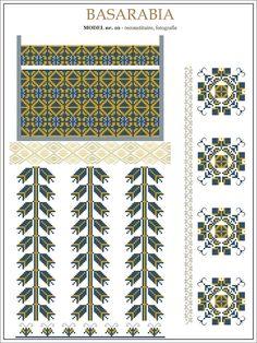 Semne Cusute: iie din BASARABIA - model (10) Embroidery Sampler, Folk Embroidery, Learn Embroidery, Embroidery Patterns, Cross Stitch Floss, Cross Stitch Charts, Cross Stitch Patterns, Cross Stitch Cushion, Beading Patterns
