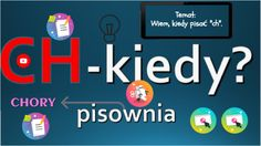"Discover more about Wiem, kiedy pisać ""ch"" ✌️ - Interactive Image Falling In Love, Communication, Author, The Incredibles, Education, Image, Places, Writers, Educational Illustrations"