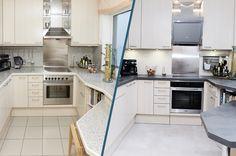 Küchenrenovierung Kitchen Island, Kitchen Cabinets, Led Spots, Modern, Bar, Illustration, Home Decor, Old Kitchen, Set Of Drawers