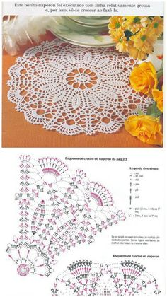 Crochet Mat, Crochet Doily Diagram, Crochet Mandala Pattern, Crochet Dollies, Crochet Flower Tutorial, Crochet Lace Edging, Crochet Circles, Thread Crochet, Crochet Gifts