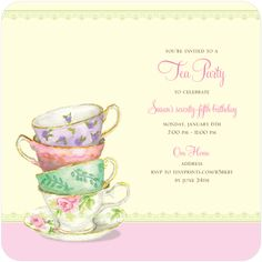 Free Blank Tea Party Printable Tea Party Tea Party Tea Party