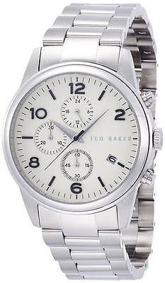 63c575724c96 TE3058 NEW Ted Baker Mens Gents Chronograph Stainless Steel Bracelet Watch  - http