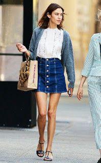 Styletrendalert: Denim skirt inspiration ideas