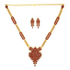 GRT   Collections   Fire and Earth   Necklace   Exclusively Designed Ruby Necklace Set