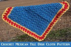 Mexican tile Dishcloth