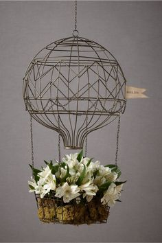Great Planter Idea- Hovering Hot Air Balloon in Décor Decorating at BHLDN