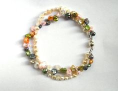 2 strands multicolor keshi and freshwater pearls by CarlaDiVolpe, Turkey