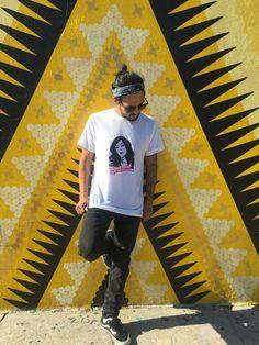 "Limited Edition Miami Style Neon T-shirt ""Vegan Club"" featuring Kat Von D Edition Miami, Miami Style, Miami Fashion, Vegan Fashion, Kat Von D, Handmade Art, Original Artwork, Organic Cotton, Neon"
