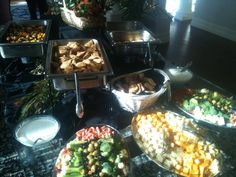 CJ's Catering, Georgetown, TX: Display of appetizers and munchies for an event in Round Rock, TX. Round Rock Texas, Neighborhood Party, Georgetown Tx, Central Texas, Personal Chef, Wedding Catering, Banquet, Paella, Appetizers