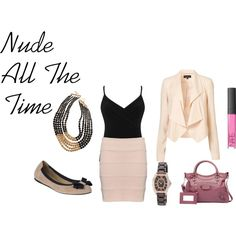 Nude, created by amandavmulyana on Polyvore