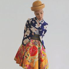 Euco Circle Skirt No.1 by Yokoo on Etsy