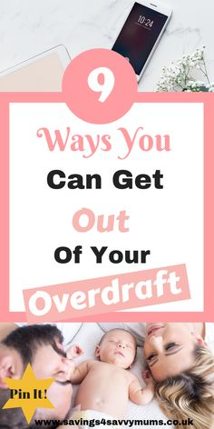 How to Get Out of Your Overdraft - Savings 4 Savvy Mums Teaching Money, Managing Money, Ways To Save Money, Money Saving Tips, Improve Credit Score, Frugal Recipes, Mummy Bloggers, Early Retirement, Debt Payoff
