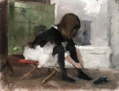 Helene Schjerfbeck, Dancing Shoes, 1883, Oil on canvas, 20,5 x 26,5 cm, Private Collection