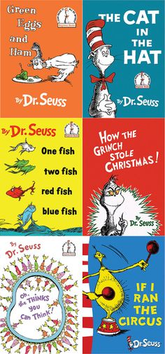 Many of the most popular Dr. Seuss books are featured here in the Book Cover Set. What better way to decorate at a Dr. Seuss party than with the covers of his most popular books? You and your guests can relive memories of your childhood without displaying your own precious copies. If one of these falls into the punch bowl, no damage done. Featured on these half-page printables are the covers of 14 different Dr. Seuss books. { d e t a i l s } The standard dimensions are about 5 x 7 (slightly…
