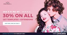 Happy Valentine's Day! Get high-quality Joomla templates 30% OFF! Just use the coupon code: LOVEJM18  It's a flash sale so it ends soon. Hurry up! #ValentinesDay #Joomla #template #sale #discount #offer #deal