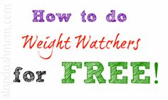 How to Do Weight Watchers for FREE!  This site gives very specific details and all the information you need to succeed!  Extremely informative :)