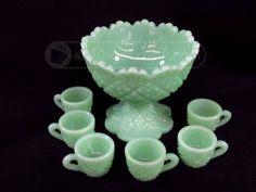 shopgoodwill.com: Miniature Jadeite Glass Punch Bowl