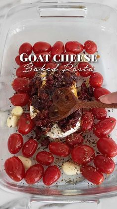 Viral feta pasta but with goat cheese!