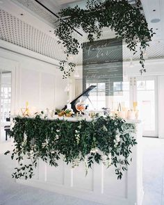 Trending Now: Drink Stations to Elevate Your Reception | Martha Stewart Weddings - Guests at this wedding were treated to a tonic bar, which allowed them the choice of either ordering their favorite drink made using the fizzy water or choosing from the bride and groom's favorites. For the build your own portion, the couple selected a mix of different tonics, alcohols, and garnishes for a truly personalized experience.