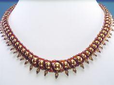 Rocio de la Perla - beaded Necklace Pattern  ©2008 - GJ Shop