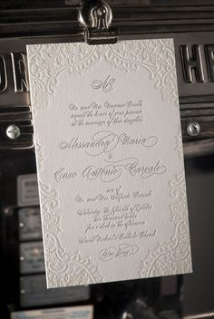 Wedding stationery inspiration - ideas for your wedding invitations. Vintage Lace letterpress wedding invitation - diy - glue lace to invite and paint over lace and card. Letterpress Wedding Invitations, Vintage Wedding Invitations, Diy Invitations, Wedding Stationary, Wedding Invitation Cards, Invitation Design, Wedding Cards, Diy Wedding, Wedding Vintage