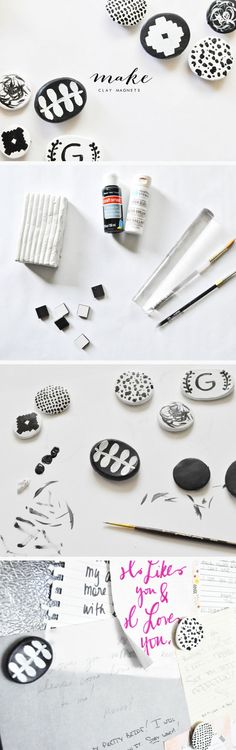 DIY Clay Fridge Magnets | Click Pic for 28 DIY Kitchen Decorating Ideas on a Budget | DIY Home Decorating on a Budget