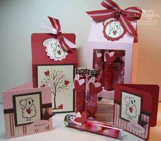 splitcoaststampers valentine cards   Valentine's Gable Boxes