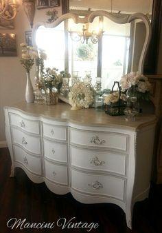Gorgeous French Serpentine Dresser #pure White #French Furniture #painted  Furniture #French Cottage