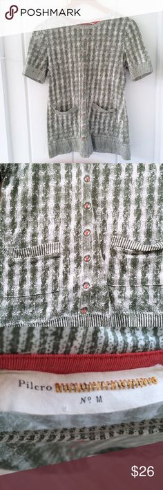 FINAL DROP! Pilcro and the Letterpress Like new condition! Pilcro and the Letterpress (Anthro) Contrary to Winter tee. Has the look of a cozy winter sweater (complete with faux threaded buttons and front pockets) on a very comfortable 60% cotton, 40% modal tee. Ribbed hem and cuffs. Size M. Offers welcome! Anthropologie Tops Tees - Short Sleeve