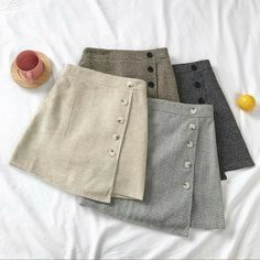 Style this go-to mini with a linen shirt and mules for an effortless luxe feel, or rock the ultimate cool-girl look with a vintage tee and chucks. Skirt Fashion, Diy Fashion, Korean Fashion, Fashion Dresses, Womens Fashion, Fashion Boutique, Boutique Clothing, Fashion Clothes, Fashion Jewelry