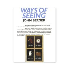 Based on the BBC television series, John Berger's Ways of Seeing is a unique look at the way we view art, published as part of the Penguin on Design series in Penguin Modern Classics.  'Seeing comes before words. The child looks and recognizes before it can speak.'  'But there is also another sense in which seeing comes before words. It is seeing which establishes our place in the surrounding world; we explain that world with words, but word can never undo the fact that we are surrounded by…