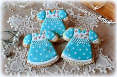 Cookies for Vintage baby girl shower...