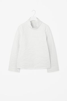 COS   Stand-up collared boxy top