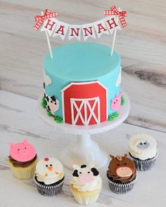 Barnyard Cake, Farm Cake, Animal Cakes, 2nd Birthday, Farms, Desserts, Food, Tailgate Desserts, Homesteads