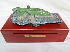 617a25d5b6a1 Fairway Replicas Pebble Beach 7th Wooden Hinged Box - PGA Tour